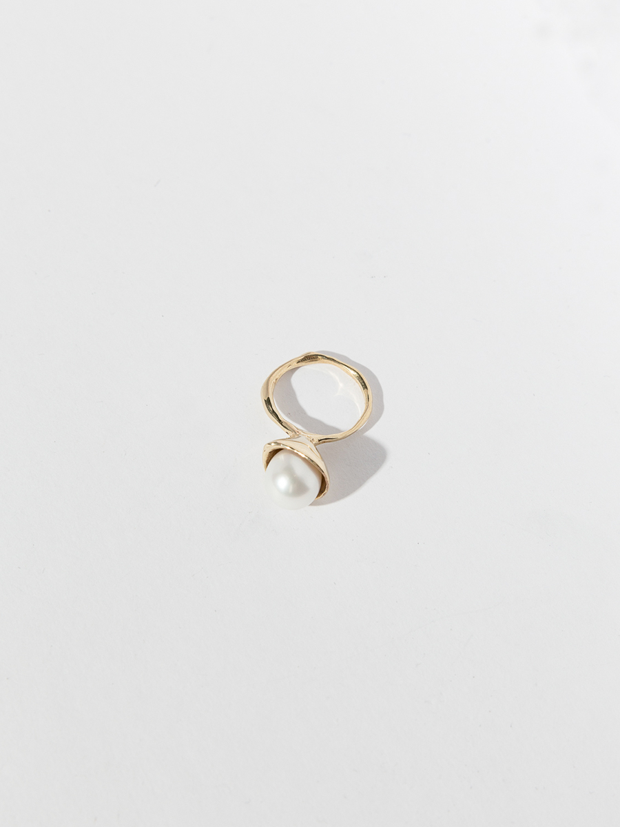 CHAPEAU Ring by FARIS Jewelry, 14k Gold and Pearl