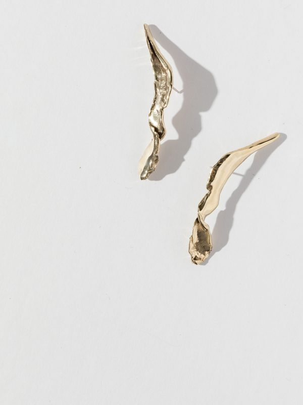 Bronze FOLIA Earrings by FARIS jewelry.