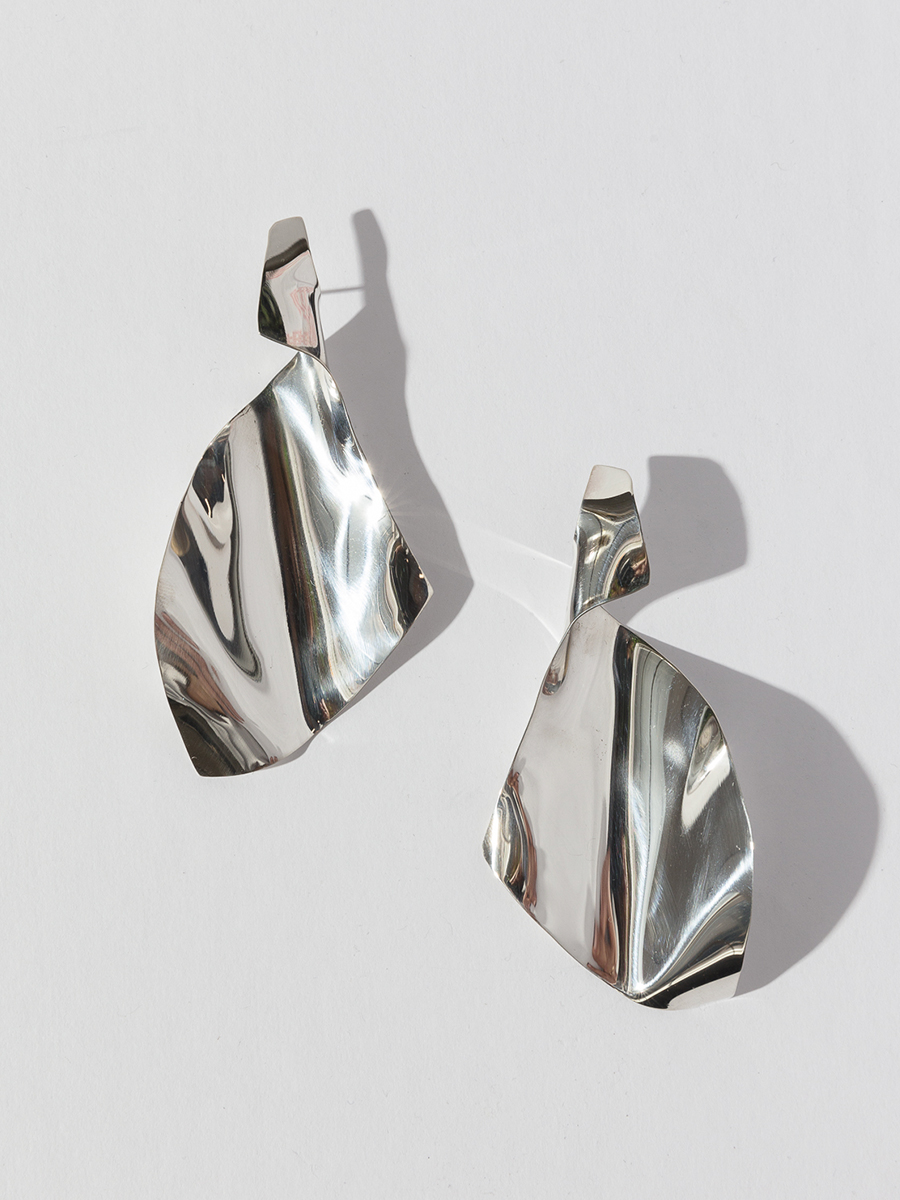 Silver TORNADE Earrings by FARIS jewelry
