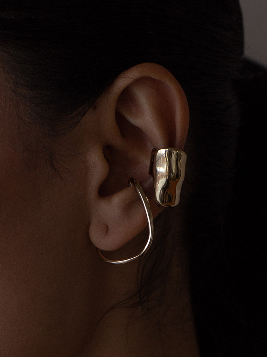 BUBBLE Earcuff and VINEA HANG in Bronze by FARiS
