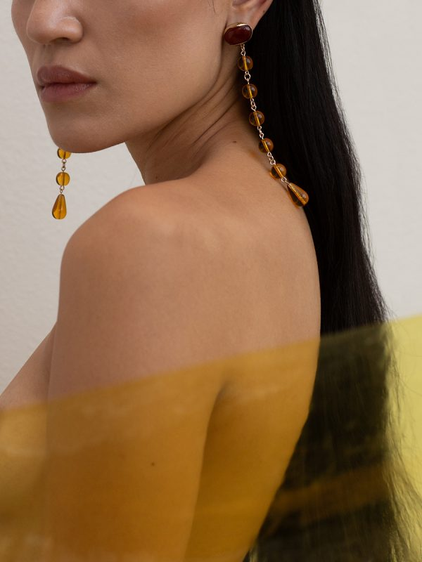 FESTA Amber Earrings by FARIS