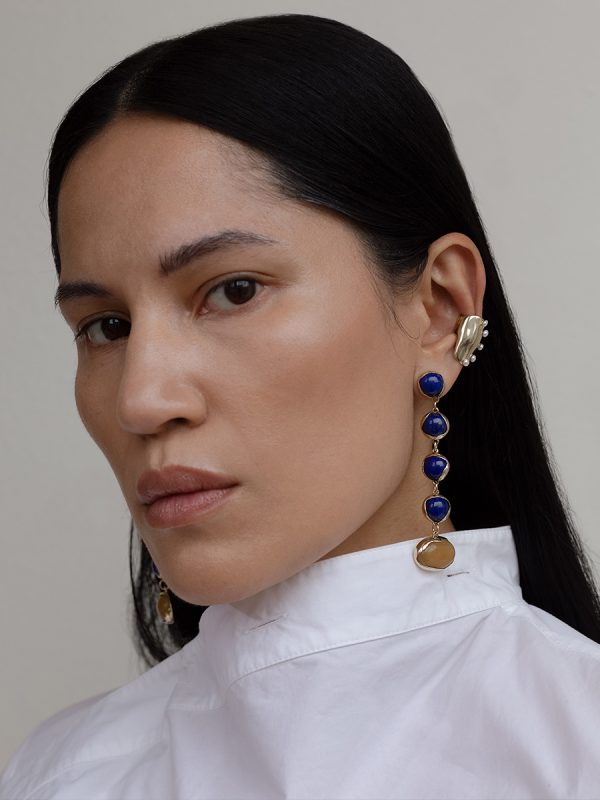 FESTA Lapis and BUBBLE Perla Ear cuff by FARIS