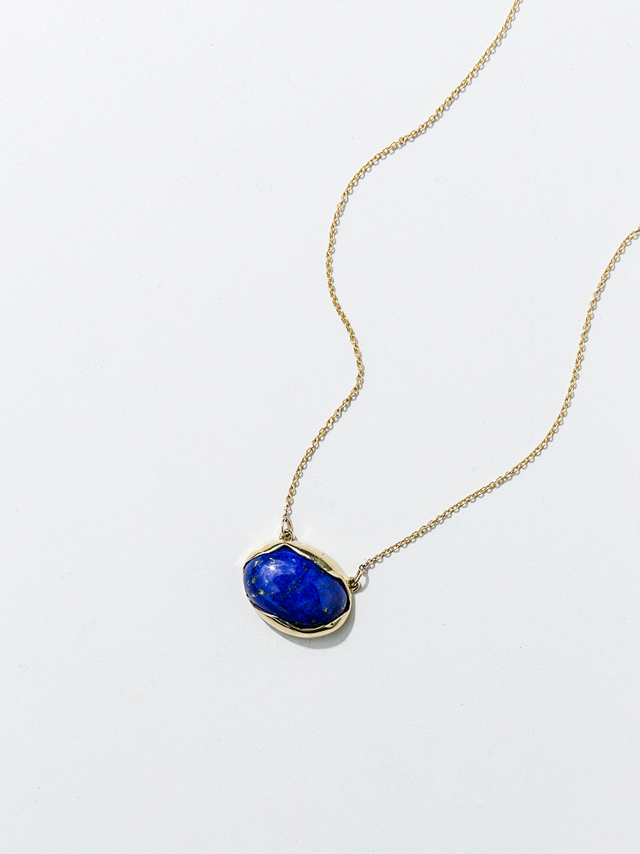 OVO Necklace in Bronze and Lapis