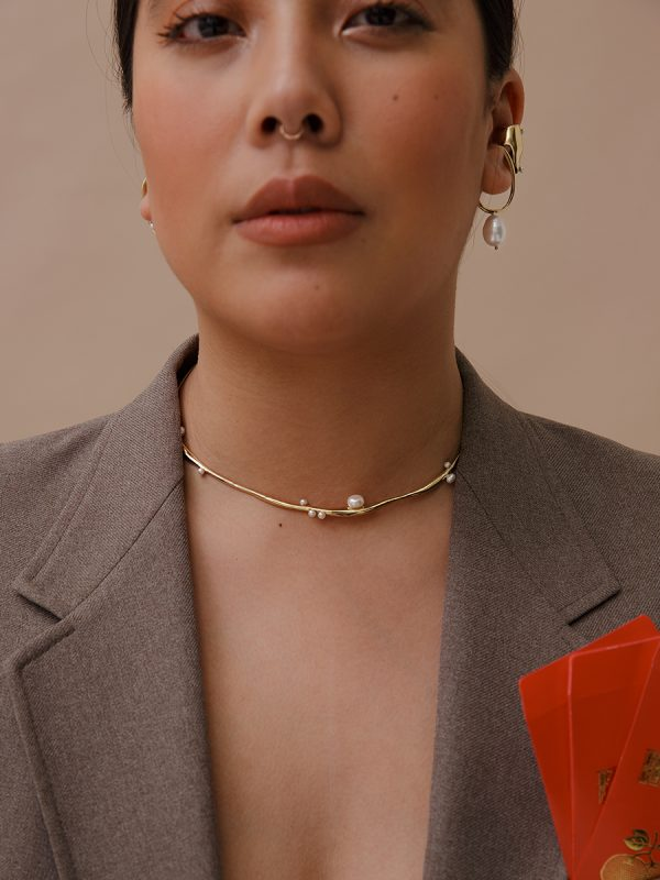 ESTHER Collar in Bronze by FARIS