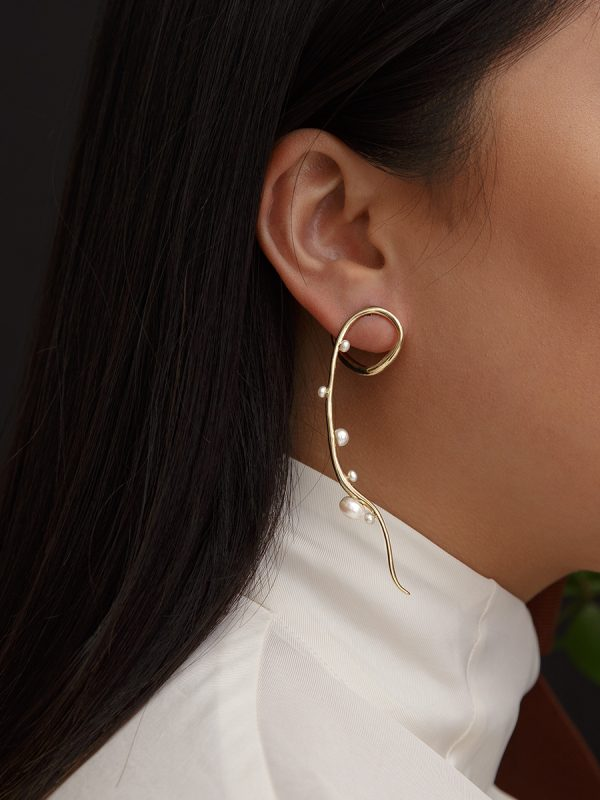 ESTHER Earring in Bronze by FARIS