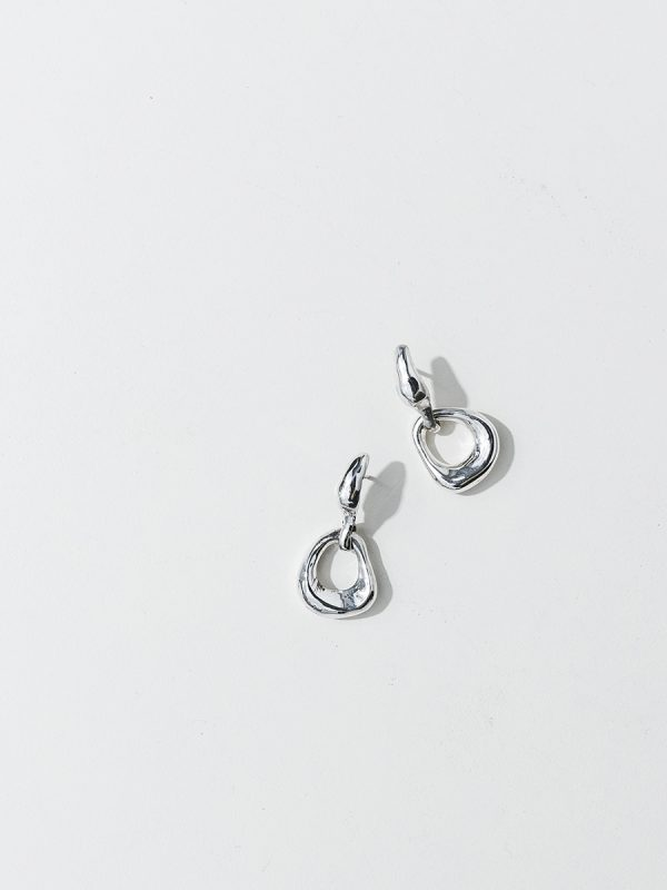 NINA Earrings in Silver by FARIS