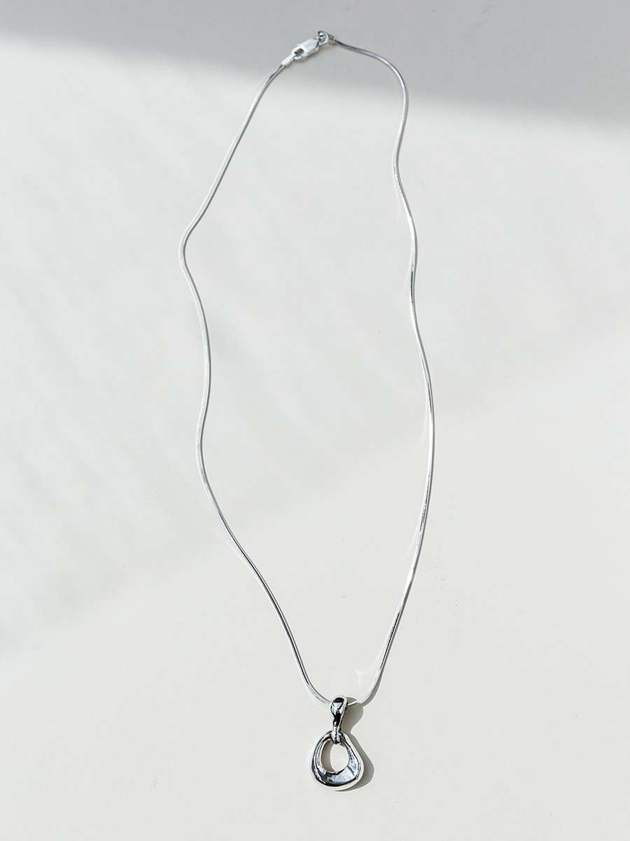 NINA Necklace in Silver by FARIS