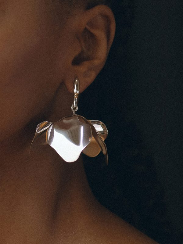 MARCELINA Earrings in Silver by FARIS