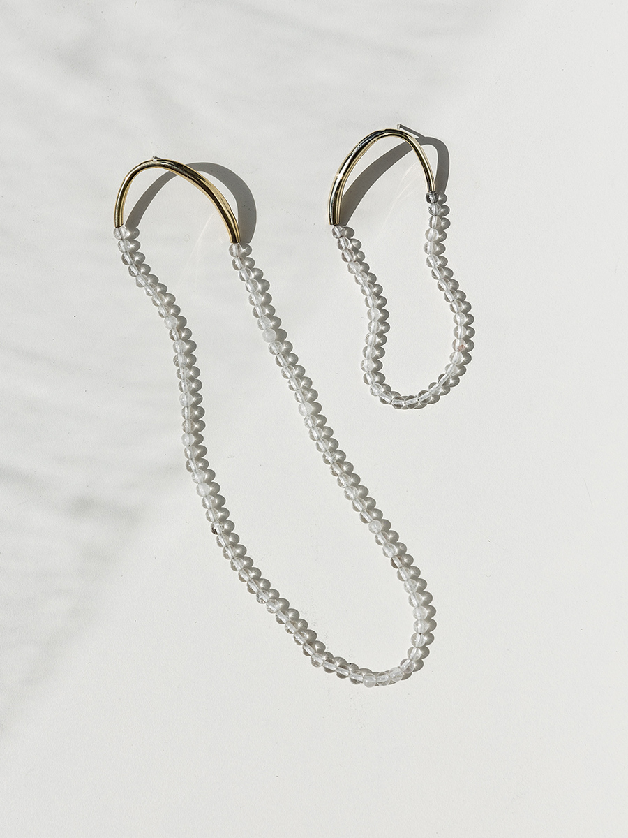 FILO Earrings in Bronze and Quartz by FARIS