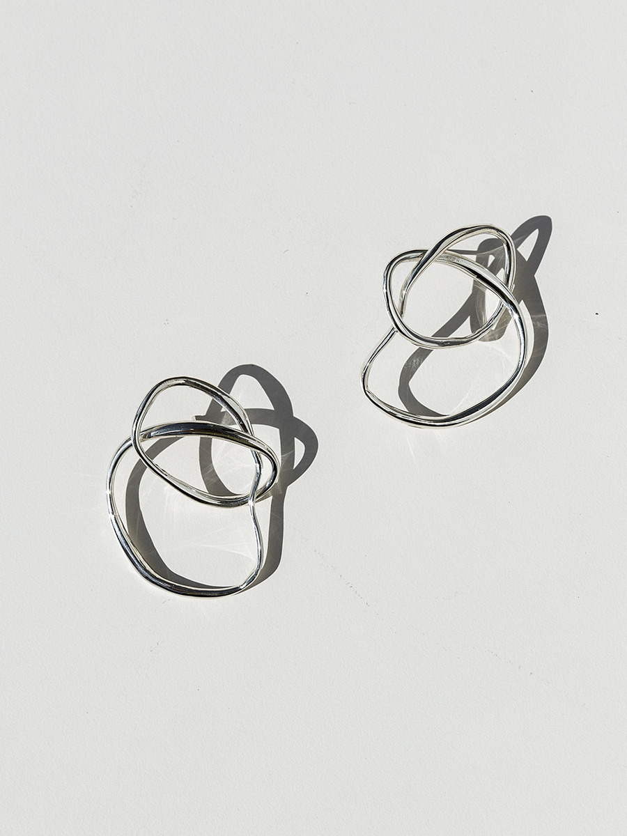 VINEA KNOT Earrings in Sterling Silver by FARIS