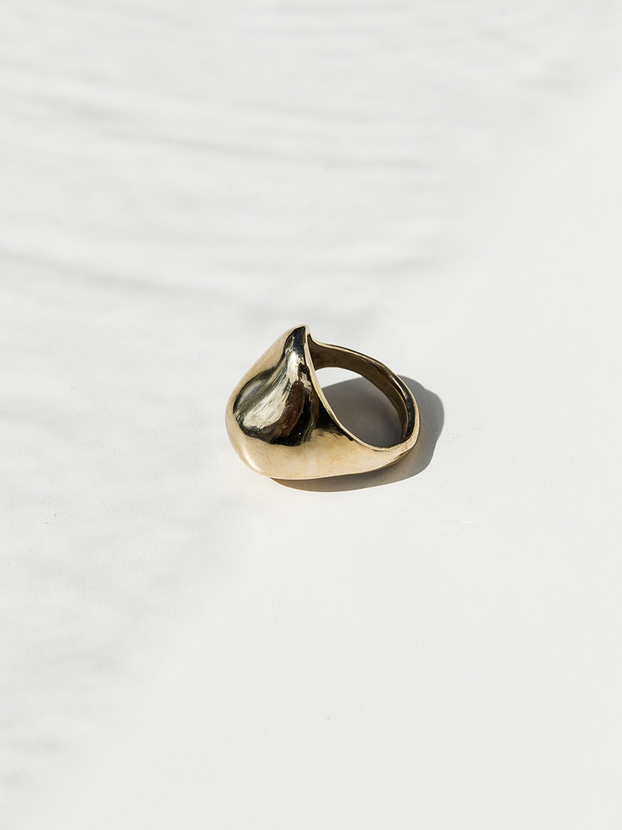 NUEZ Ring in Bronze by FARIS