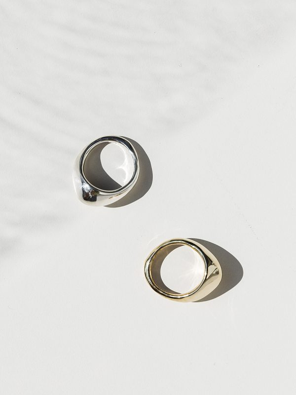 PEAK Rings in Bronze and Silver by FARIS