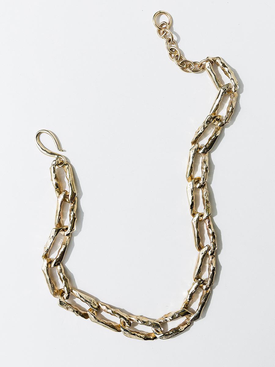 TERRA CHAIN Collar in Bronze by FARIS