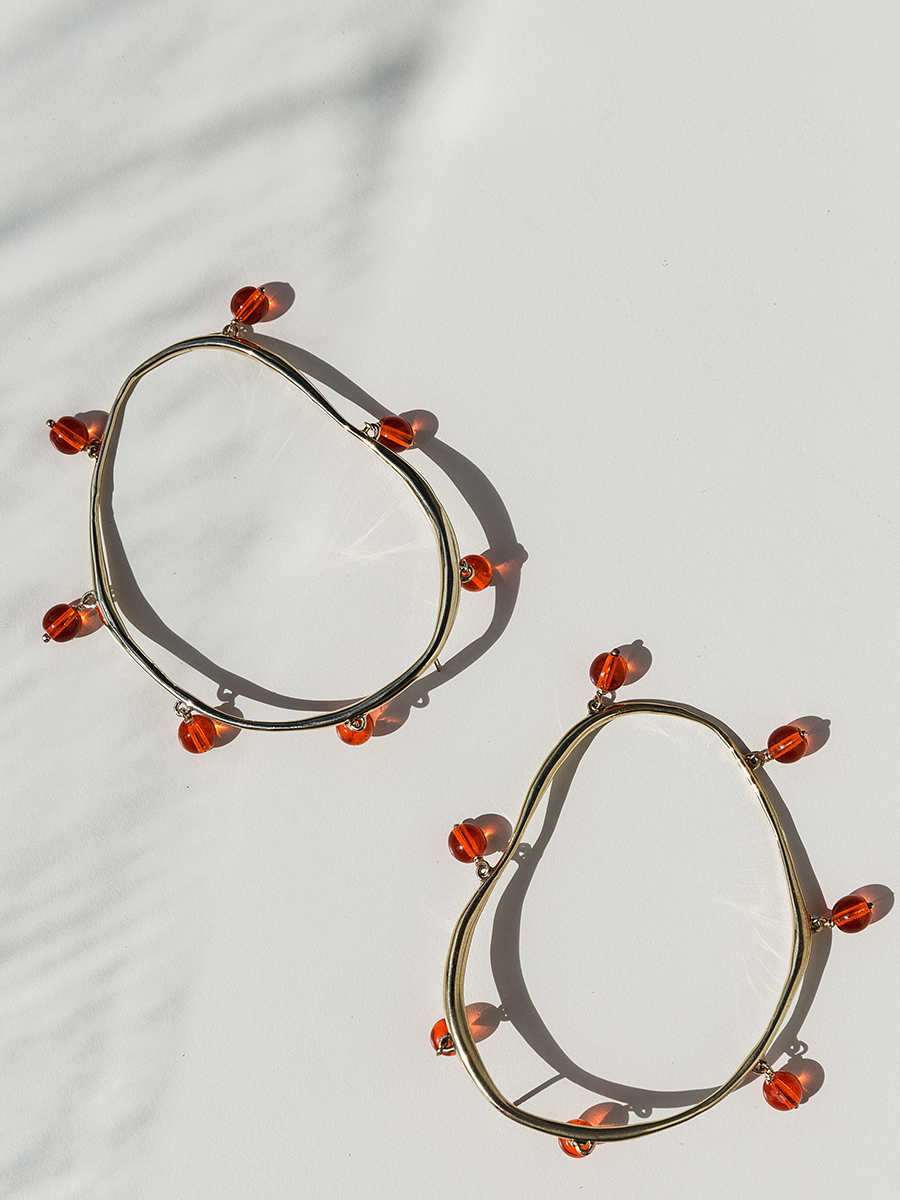 VERRE Hoops in Bronze and Roe by FARIS