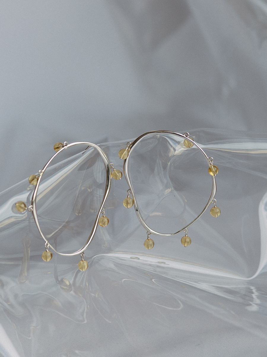 VERRE Hoops in Silver by FARIS