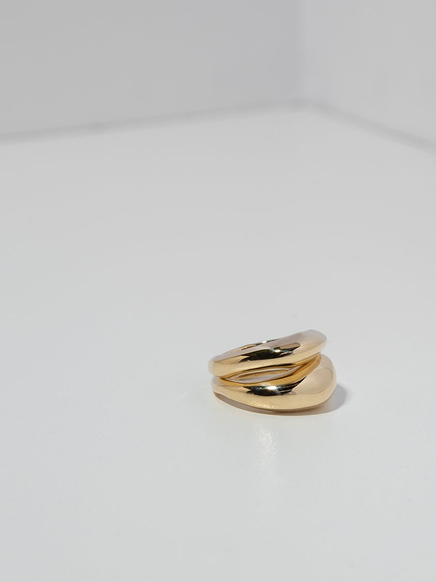 DUET Ring Set in Bronze by FARIS