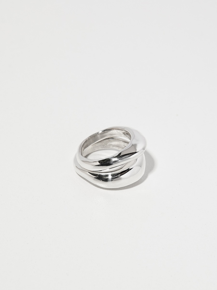 DUET Ring Set in Silver by FARIS