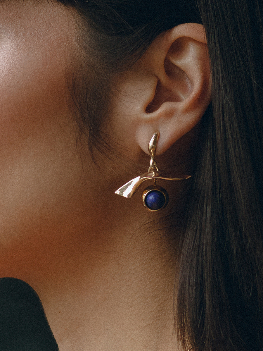 GAZE earrings in Bronze by FARIS