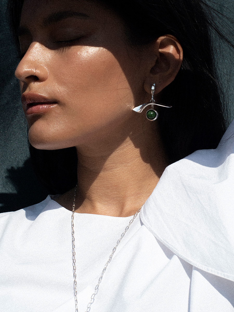 GAZE earrings in silver by FARIS