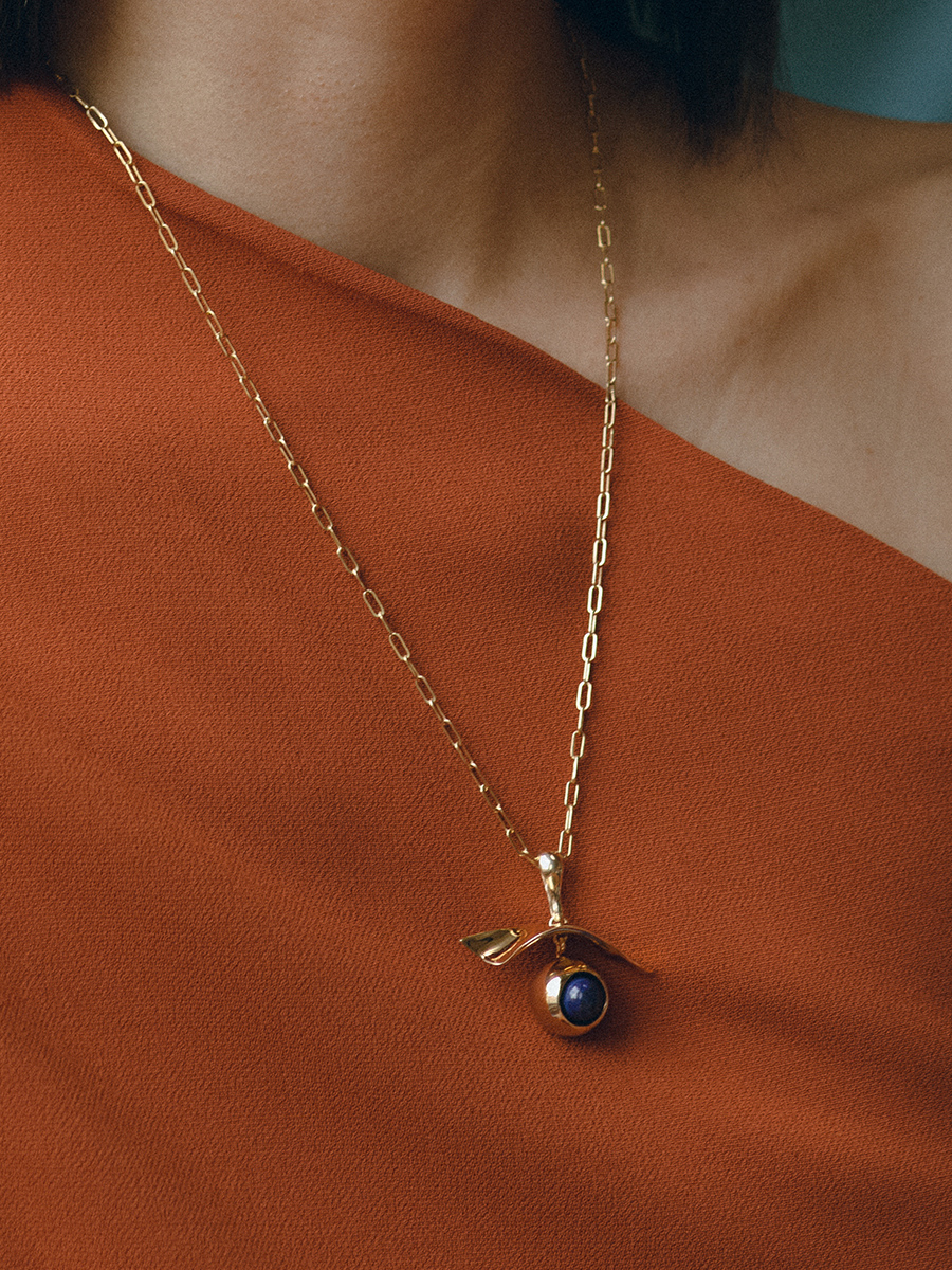 GAZE necklace in Bronze by FARIS