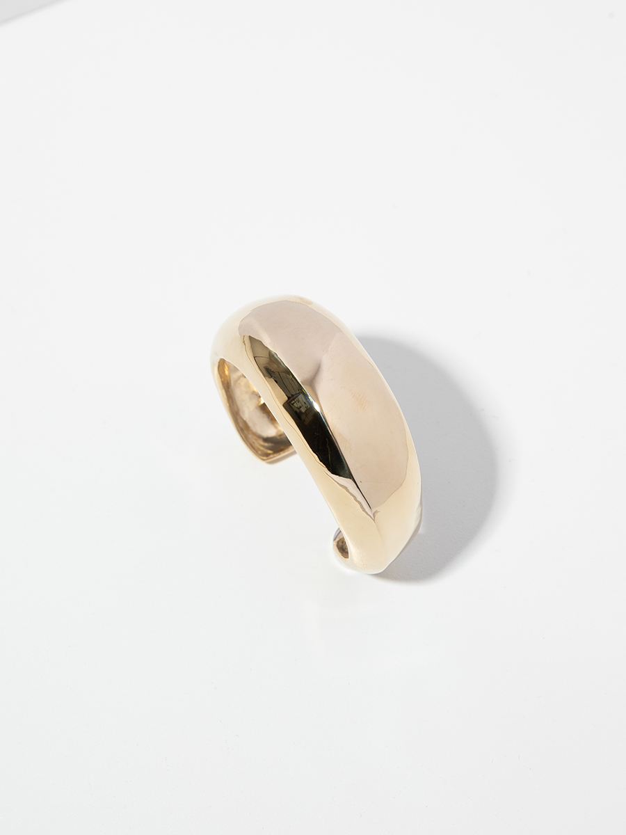 RIDGE CUFF IN BRONZE BY FARIS