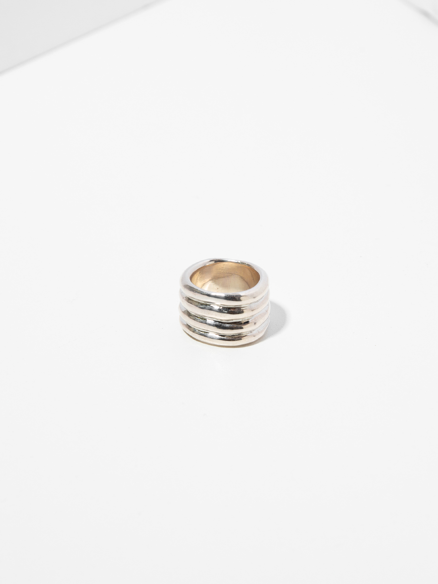 STACK Ring in Silver by FARIS