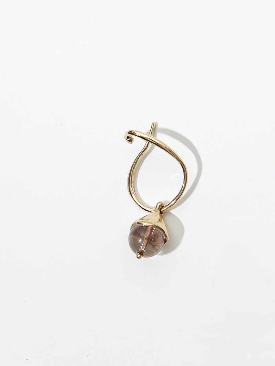 CHAPEAU HANG IN BRONZE AND CLEAR QUARTZ BY FARIS