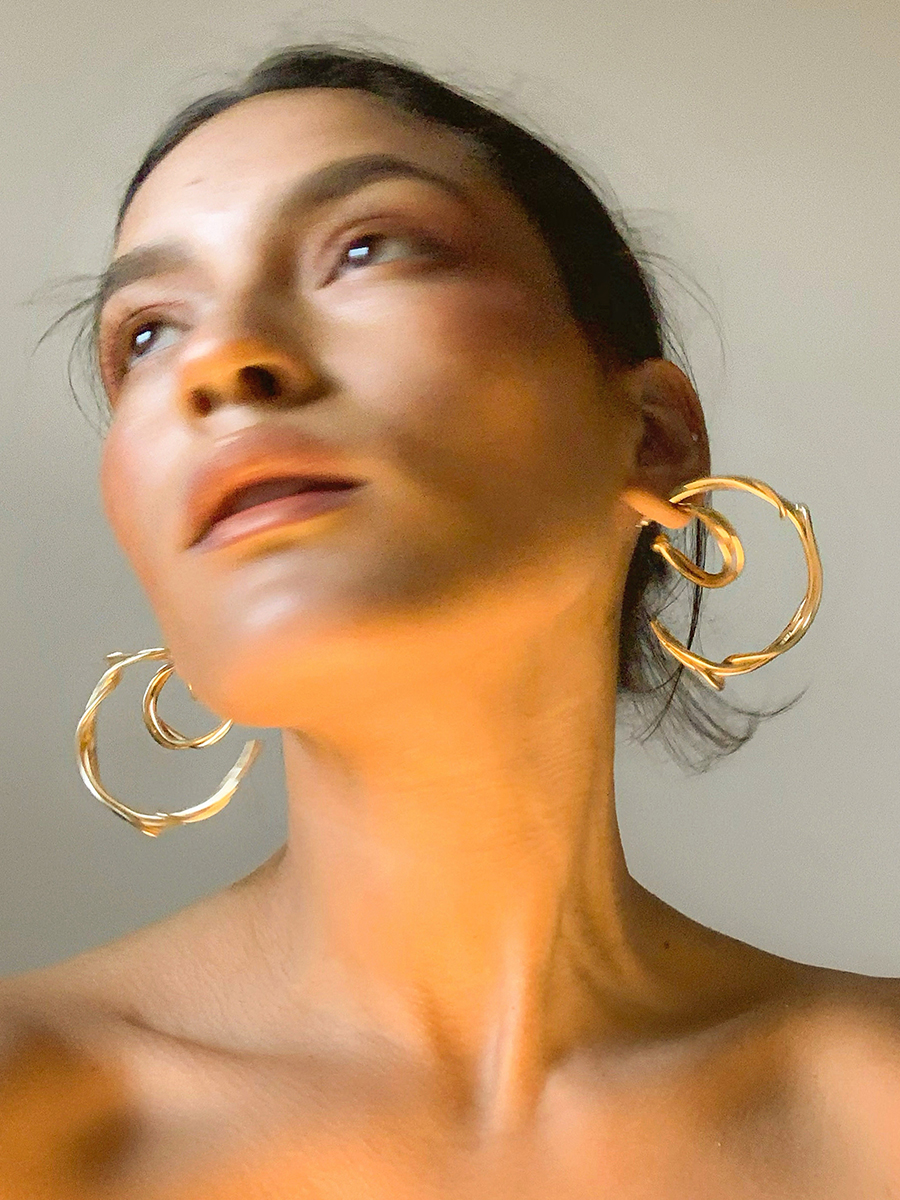 large tangle hoops by FARIS