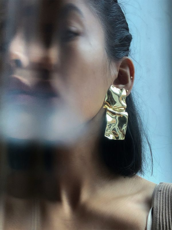 warp earrings by FARIS