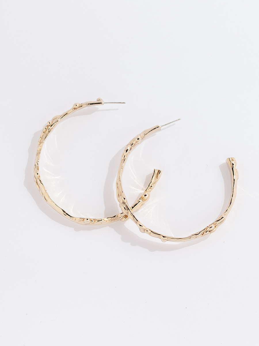 Large LAVA Hoops by FARIS